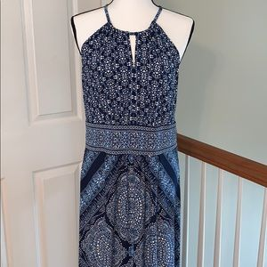 London Times Maxi Length Dress Print size 12